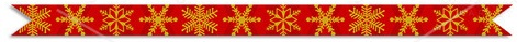 christmas red and gold divider snowflakes