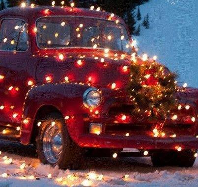 CHRISTMAS truck lighted