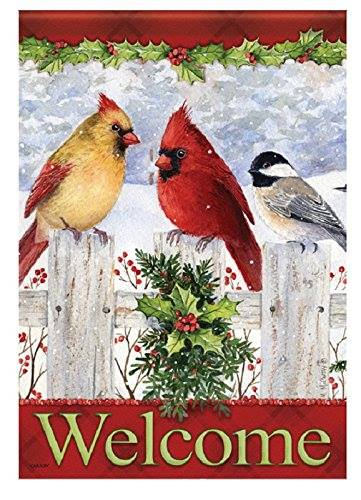 CHRISTMAS welcome with cardinals