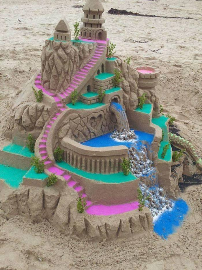 sand castle colored