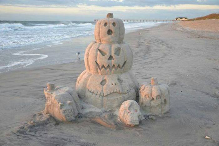 sand pumpkins