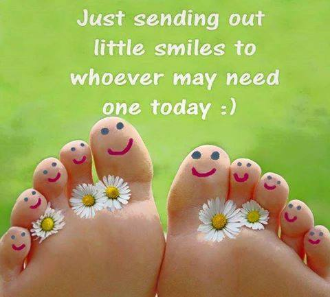 smile daisies toes