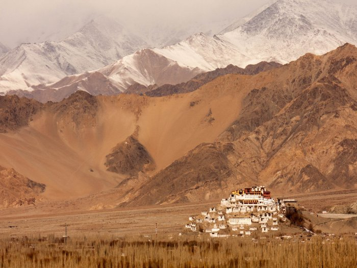 Thiksey Monastery and the Indus Ranges