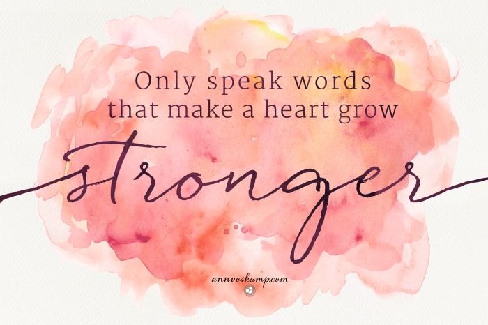 only speak words