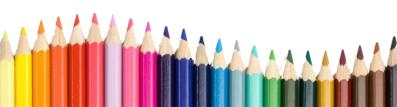 colored pencils divider clip art