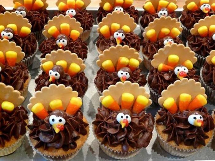 cupcake turkeys