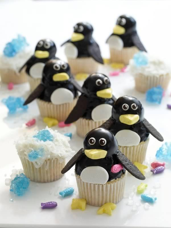 cupcakes penguins