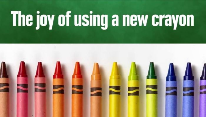 joy of new crayon