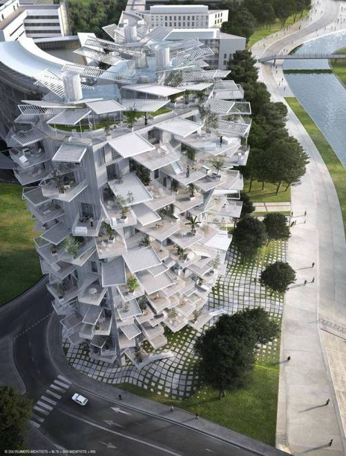 The White Tree Tower by Sou Fujimoto, Montpellier, France