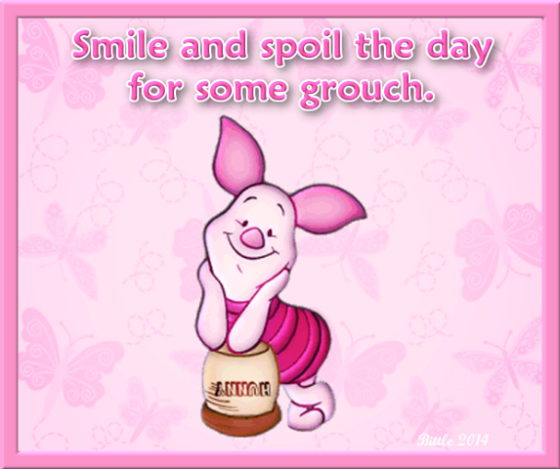 smile and spoil the day