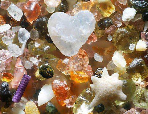 what oean sand looks like magnified 250 times