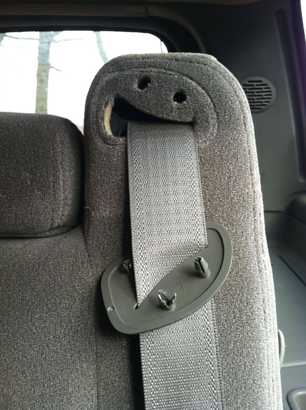 faces droool car seat belt