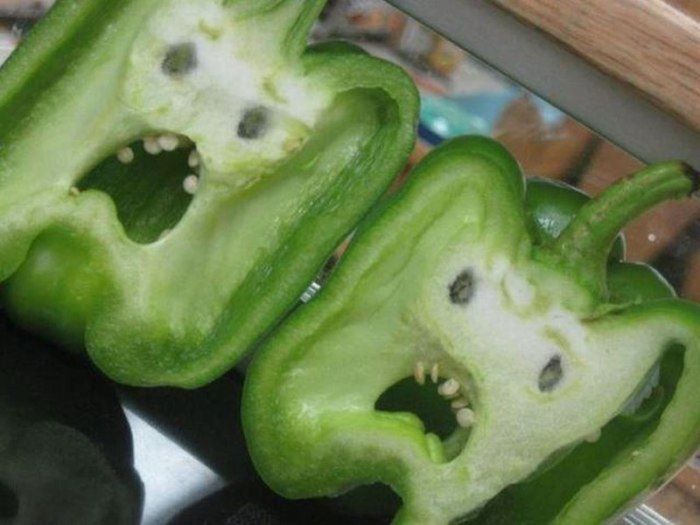 faces petrified peppers