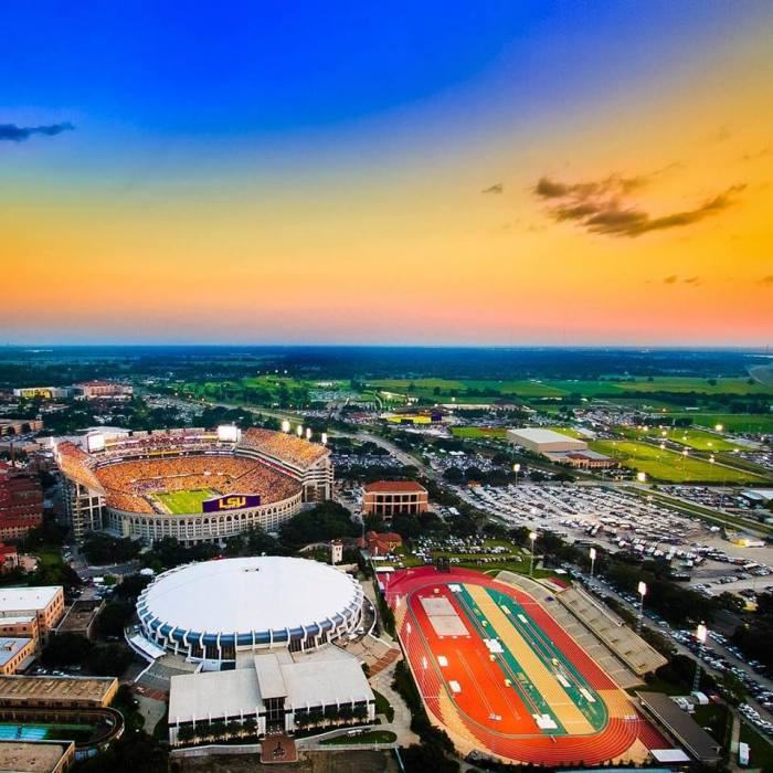 lsu sports complex aerial view