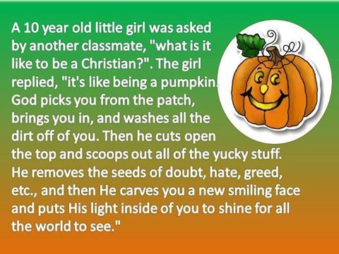 christian pumpkin story