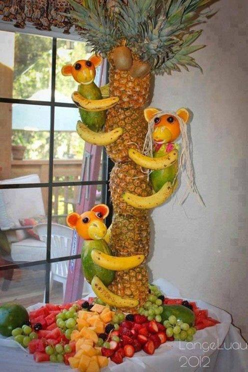 food art pineapple tree