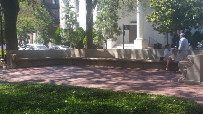 forest-gump-bench-in-savannah