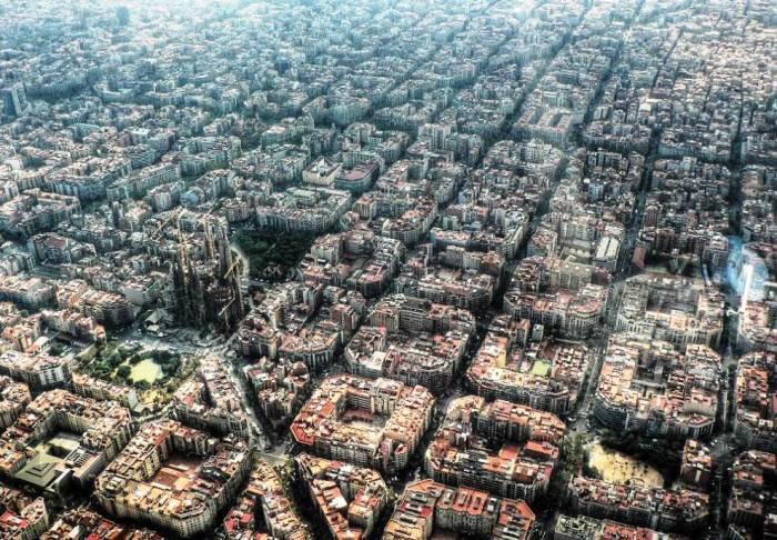 aerial-photography-eixample-barcelona